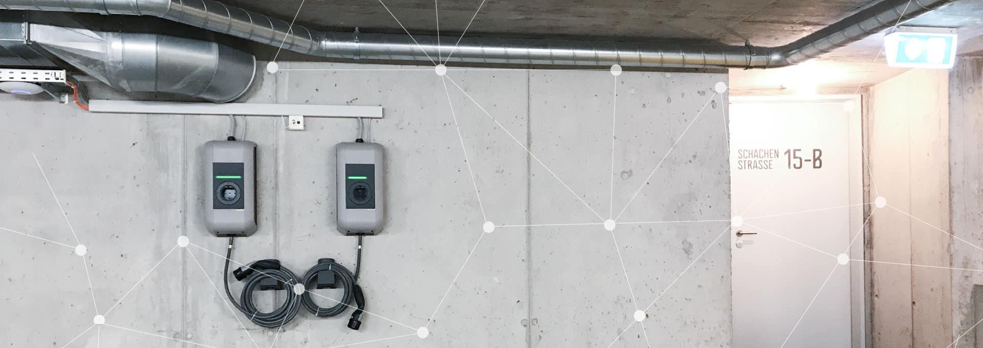 intelligente systemarchitektur elektroplanungvelektroauto ladestation lastmanagement baugenossenschaft wohnwerk luzern elmaplan ag