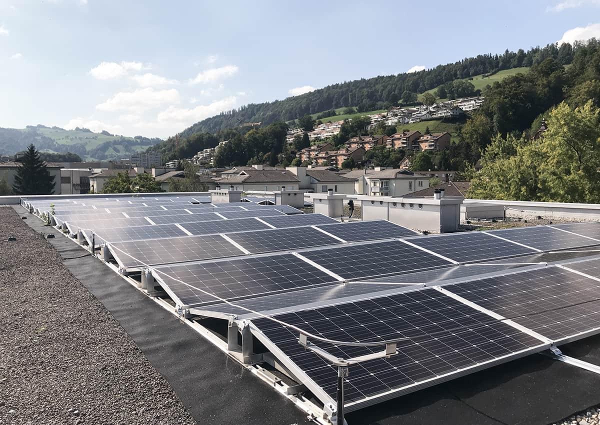 Intelligente Systemarchitektur Elektroplanung Photovoltaikanlage ZEV Baugenossenschaft Wohnwerk Luzern Teiggi Kriens elmaplan ag