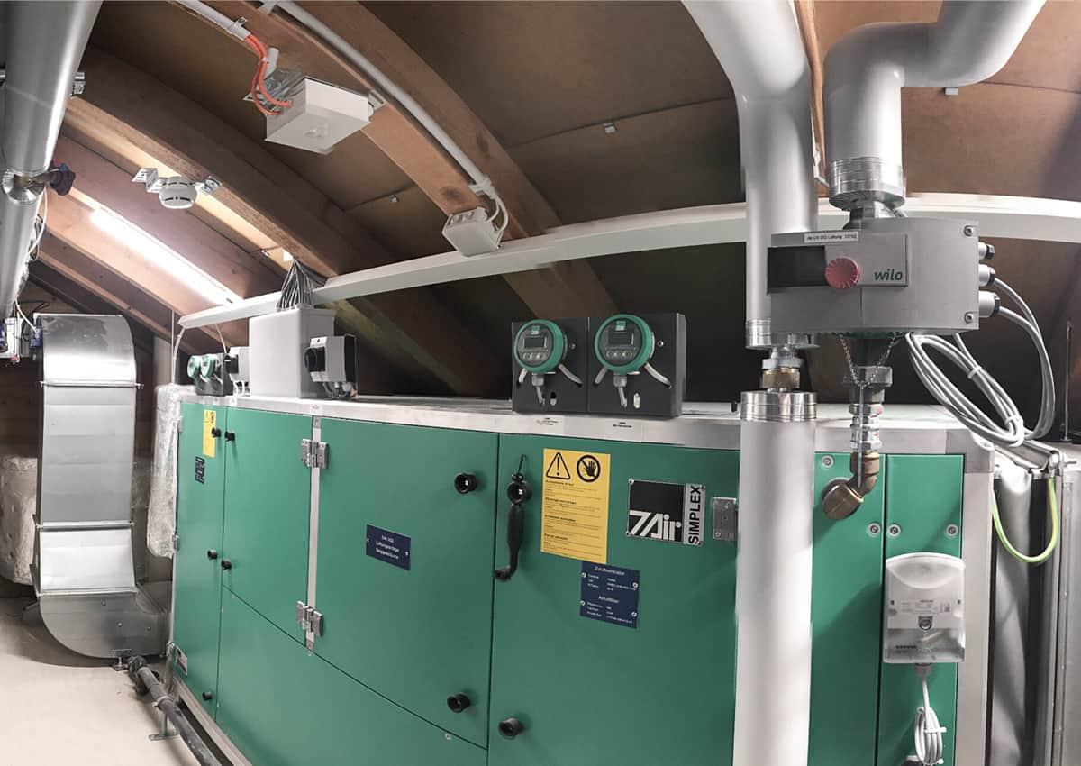 elektroplanung lichtplanung notlichtanlage brandmeldeanlage total sanierung schulhaus spitz horw elmaplan ag
