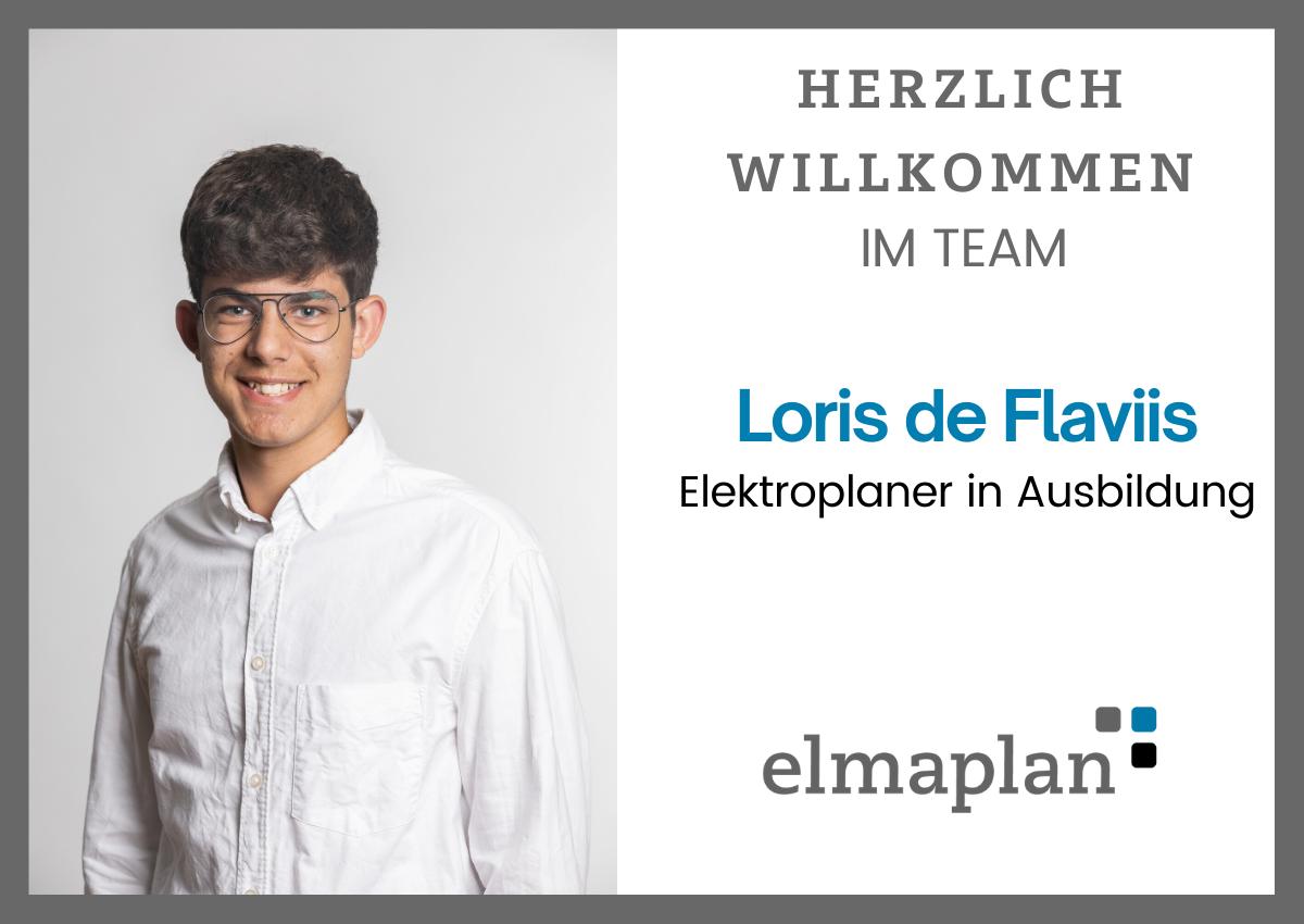 Herzlich Willkommen Loris De Flaviis, Elektroplaner In Ausbildung