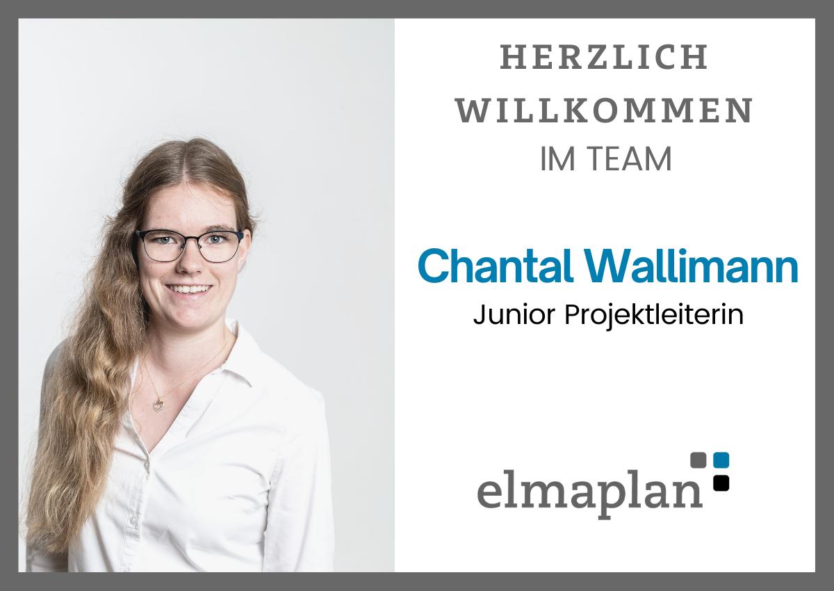 Chantal Wallimann, Junior Projektleiterin, Elektroplanung, Elmaplan Ag